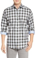 Thomas Dean Men's Classic Fit Dobby Check Sport Shirt