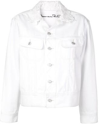 Oscar de la Renta Embroidered denim Lucy jacket