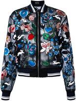 Markus Lupfer embroidered garden 'Charlotte' bomber - women - Silk/Viscose - S