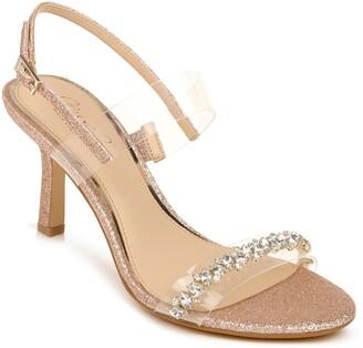 Badgley Mischka Fairwell Crystal Clear Strap Sandal