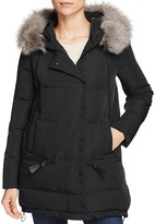 Derek Lam 10 Crosby Zip Detail Relaxed Long Down Jacket