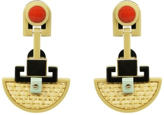 Gissa Bicalho Handmade Acrylic Earrings Ita Kahki