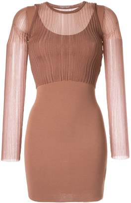Dion Lee Opacity mini dress