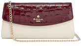 Aspinal of London Women's Eaton Clutch Bag Bordeux/Ivory/ Peacock