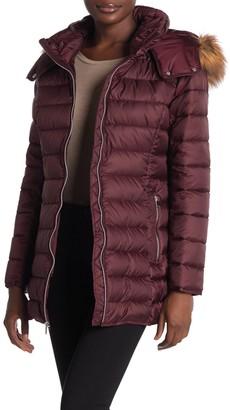 Andrew Marc Eleanor Zip Up Faux Fur Lined Coat