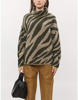 Rag & Bone Animal-print stretch-knit jumper