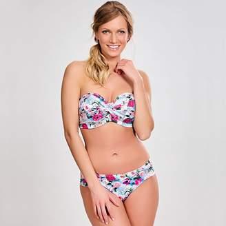 Panache Bain Floral Print Bandeau Bikini Top