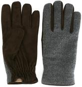 Lardini panelled gloves - men - Suede/Cashmere/Wool - 6