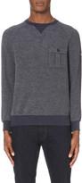 Armani Jeans Textured cotton-blend sweatshirt