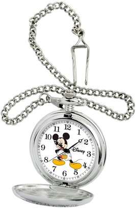 Disney Mickey Mouse Stainless Steel Pocket Watch