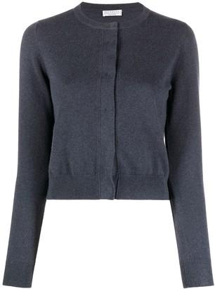 Brunello Cucinelli Blue Cashmere Cardigan