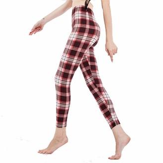 SotRong Women's Full Length Cotton Leggings High Waist Super Soft Comfort Slim Pants Power Stretch Tights Running Yoga Trousers