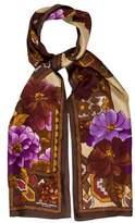 Adrienne Landau Floral Print Silk Scarf w/ Tags