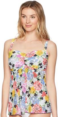 Fit 4 U Women's Fit 4U Flower Child mesh Tankini top