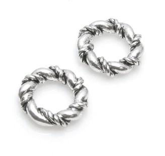 Queenberry Set Of 4 pcs. Sterling Silver Thick Twisted Spacer Ring Space European Bead Charm