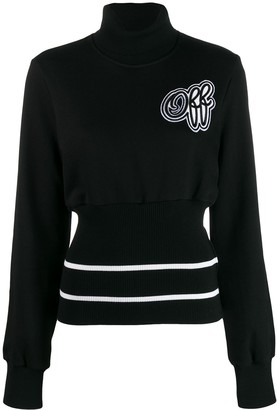 Off-White Stand Collar Logo Patch Jumper