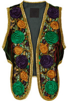 Anna Sui Embroidered Velvet Vest