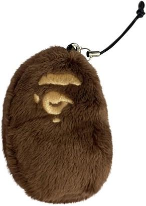A Bathing Ape Brown Cloth Bag charms