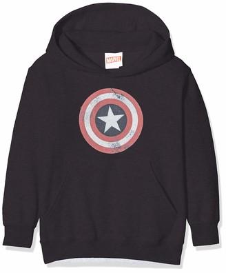 Marvel Girl's Avengers Captain America Distressed Shield T-Shirt