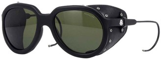 Moncler Altitude Leather Frange Detail Sunglasses