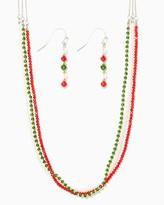 Charming charlie Shimmering Mix Necklace Set