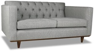 "Corrigan Studio Dysart 72"" Square Arm Sofa Upholstery Color: Off White"