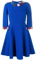 Mary Katrantzou Cooper guipure-lace trim dress - women - Silk/Cotton/Wool - 12