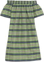 J.Crew Collection Mistflower Off-the-shoulder Silk Mini Dress - Green