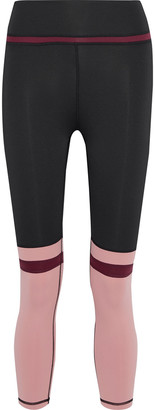 Iris & Ink Cropped Color-block Stretch Leggings