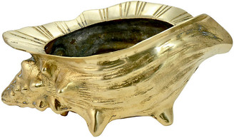 """One Kings Lane Vintage Solid Brass 10"""" Conch Shell - Design Line"""