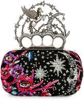 Alexander McQueen Knuckle Unicorn Box Clutch Bag, Black
