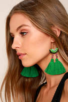 Shashi Delaney Green Tassel Earrings