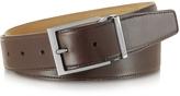 Moreschi York Dark Brown Calf Leather Belt