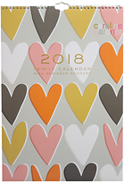 Caroline Gardner Hearts 2018 Family Calendar