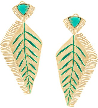 Aurélie Bidermann Feather Earrings