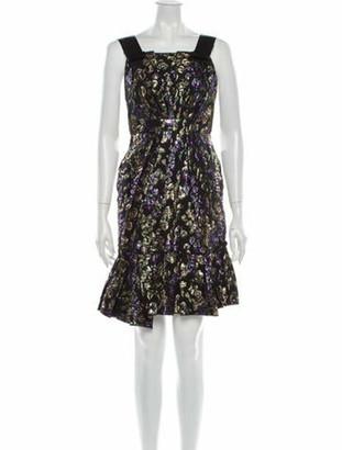 Marc Jacobs Printed Mini Dress Black