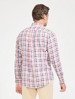 J.Mclaughlin Gramercy Classic Fit Linen Shirt in Check