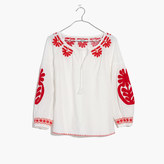 Madewell Embroidered Blanca Top