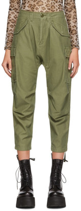 R 13 Green Harem Cargo Trousers