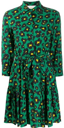 La DoubleJ Bellini floral leopard print dress