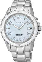 Seiko Women's Quartz Watch with Blue Dial Analogue Display and Silver Stainless Steel Bracelet SKA879P1