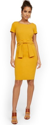 New York & Co. Tie-Front Sheath Dress - Magic Crepe