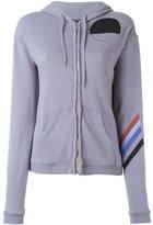 Freecity geometric print zip hoodie