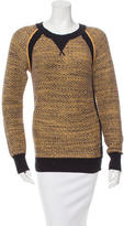 Rebecca Minkoff Patterned Rib Knit-Trimmed Sweater