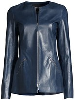 Lafayette 148 New York Roger Leather Jacket