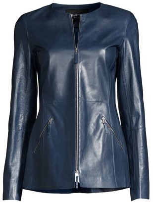 Lafayette 148 New York Roger Leather Jacket