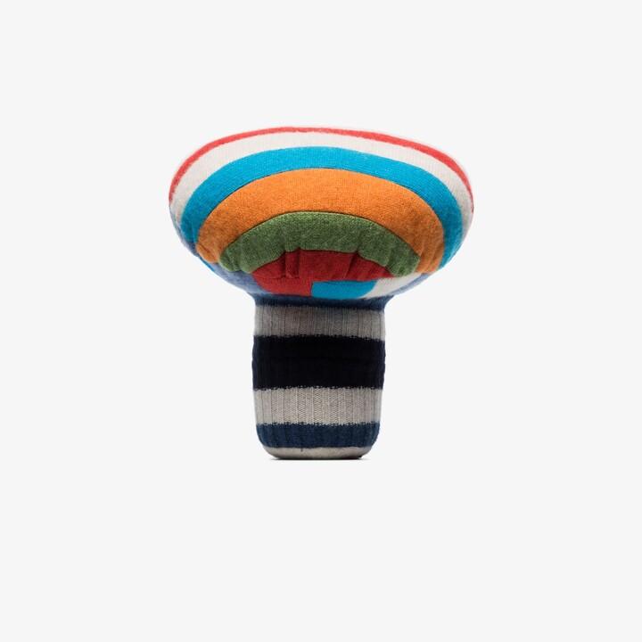 The Elder Statesman Multicoloured Small Mushroom Cashmere Cushion