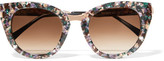 Thierry Lasry Snobby Cat-eye Acetate And Rose Gold-tone Sunglasses - Purple