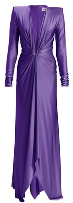Alexandre Vauthier Deep V Twisted Front Gown