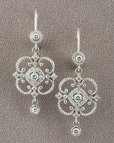 Penny Preville Open Scroll Diamond Earrings